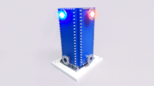 Макет сварного теплообменника