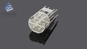3d печать детали сложной формы для макета теплообменника по SLS технологии